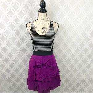 Elle Striped Racerback Tiered Dress